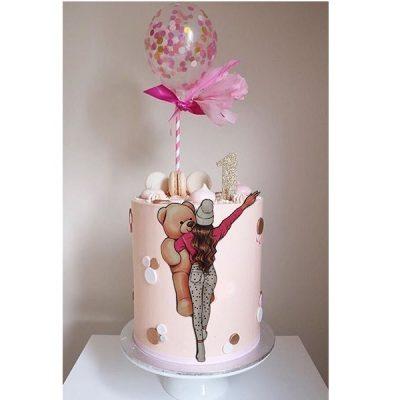 تاپر تزیین کیک بهگز مدل دختر عروسکی