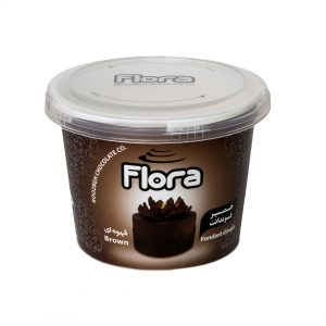خمیر فوندانت قهوه ای فلورا – 300 گرم