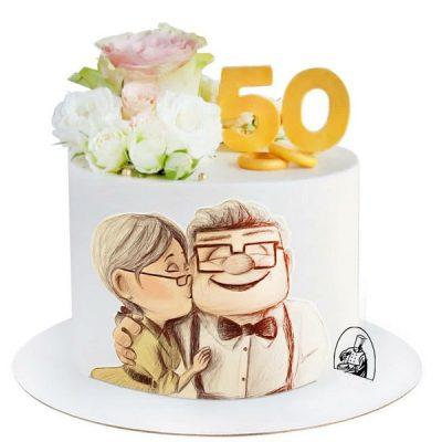 تاپر تزیین کیک بهگز مدل تولد پدر بزرگ