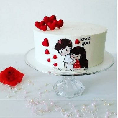 تاپر تزیین کیک بهگز مدل Love