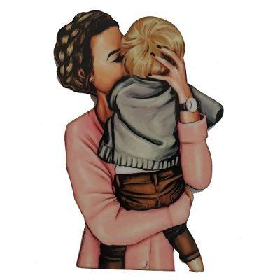 تاپر تزیین کیک بهگز مدل مهر مادری