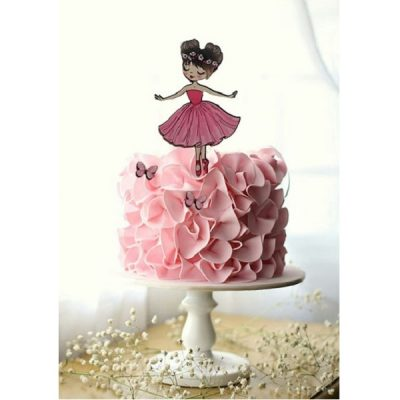 تاپر تزیین کیک بهگز مدل دختر بالرین مجموعه 3 عددی