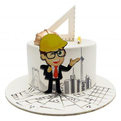 تاپر تزیین کیک بهگز مدل مهندس