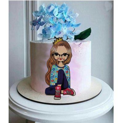 تاپر تزیین کیک بهگز مدل دختر رویایی