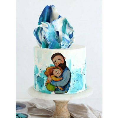 تاپر تزیین کیک بهگز مدل آغوش پدر