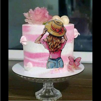 تاپر تزیین کیک بهگز مدل کلاه باران