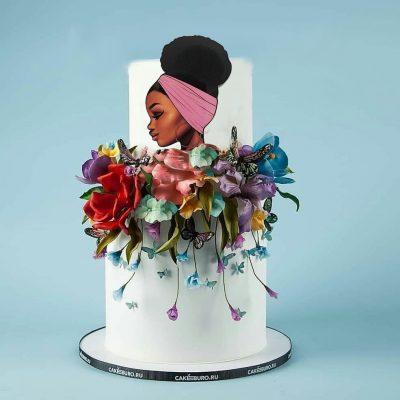 تاپر تزیین کیک بهگز مدل دختر سیاه پوست