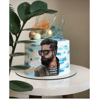تاپر تزیین کیک بهگز مدل مرد