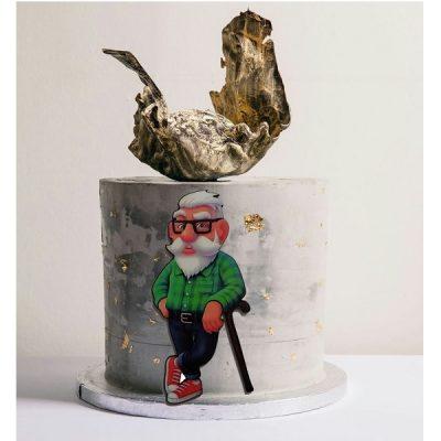 تاپر تزیین کیک بهگز مدل پدربزرگ