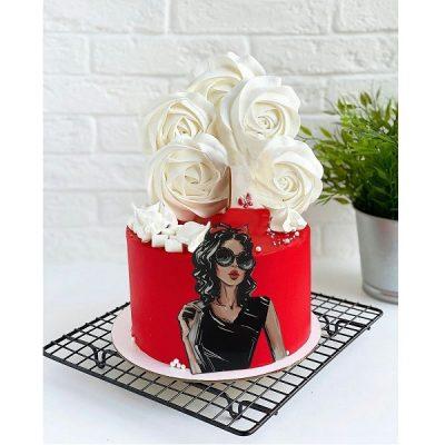 تاپر تزیین کیک دخترانه بهگز مدل دختر افسانه ای