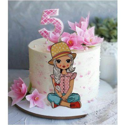 ابزار تاپر تزیین کیک بهگز مدل دختر