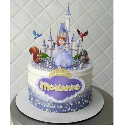 تاپر تزیین کیک بهگز مدل پرنسس سوفیا مجموعه 5 عددی