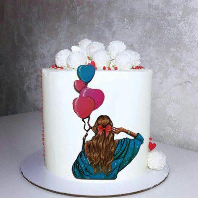 تاپر تزیین کیک بهگز مدل دختر آفتاب